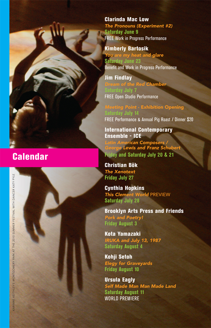 2012 Mount Tremper Arts Summer Festival Calendar