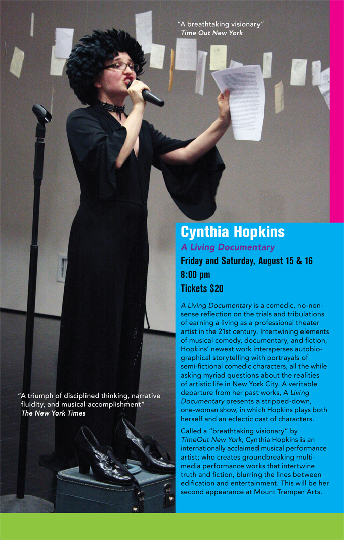 Cynthia Hopkins A Living Documentary